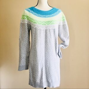 Gap Fair Isle Womens Tunic Sweater Dress Top XL